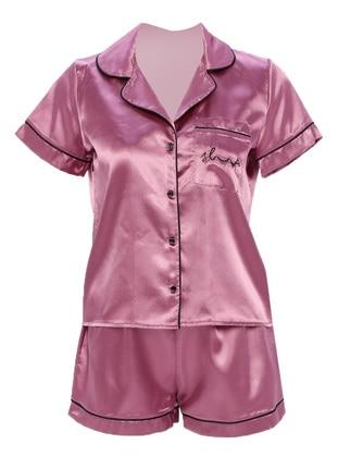 Lilac - V neck Collar - Pyjama