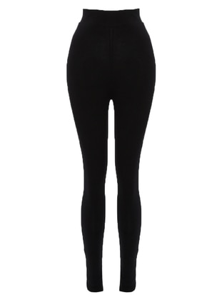 Black - Cotton - Legging - For You Moda