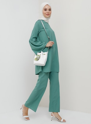 Green Almond - Unlined - Cotton - Suit