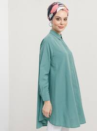 Green Almond - Point Collar -  - Tunic