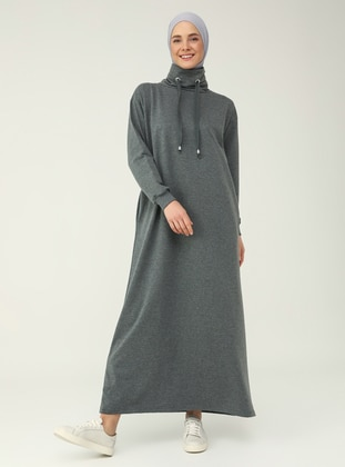 Anthracite - Anthracite - Polo neck - Unlined -  - Dress - Everyday Basic