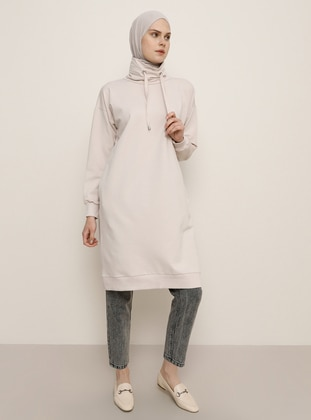 White - Powder - Polo neck -  - Tunic