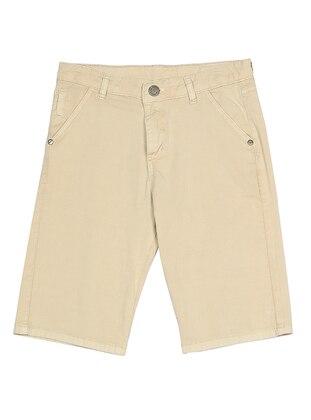 Cotton - Unlined - Cream - Boys` Shorts