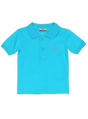 Polo - Cotton - Unlined - Blue - Boys` T-Shirt