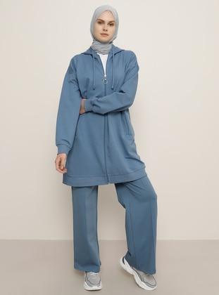 Blue -  - Tracksuit Bottom - Everyday Basic