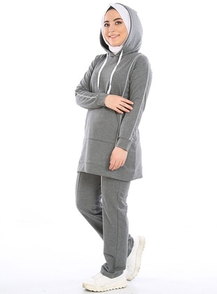 Anthracite - Combed Cotton - Tracksuit Set
