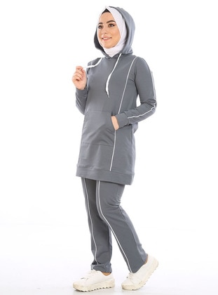 Smoke - Combed Cotton - Tracksuit Set