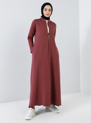 Cherry - Unlined - Crew neck - Cotton - Topcoat
