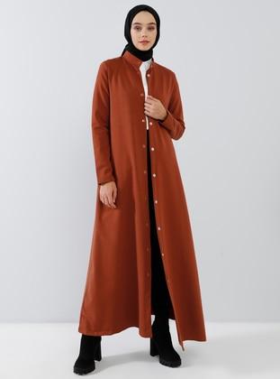 Cinnamon - Unlined - Crew neck -  - Topcoat - Everyday Basic