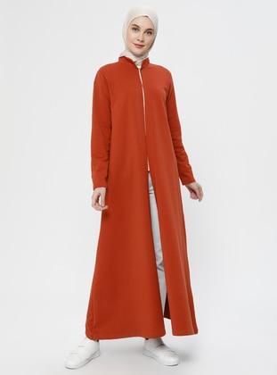 Cinnamon - Unlined - Crew neck - - Topcoat