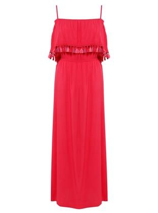 Fuchsia - Viscose - Loungewear Dresses