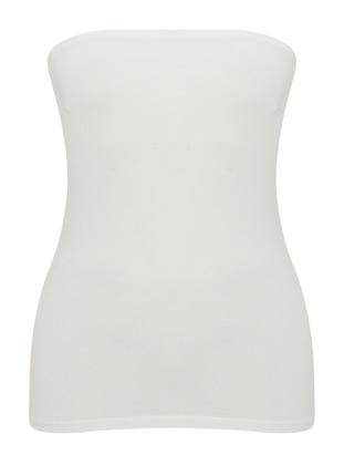 Ecru - Cotton - Corset