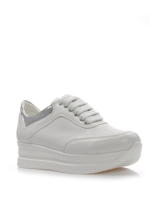 White - Lamé - Sport - Sports Shoes