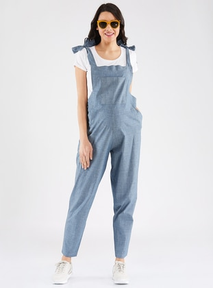 Blue - Cotton - Jumpsuit