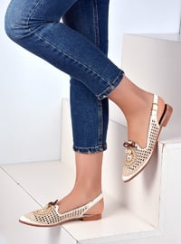 Beige - Flat - Casual - Shoes