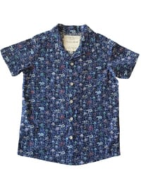 Multi - Polo - Cotton - Unlined - Navy Blue - Boys` Shirt