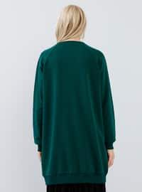 Green - Crew neck -  - Tunic