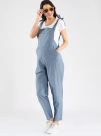 Blue - Cotton - Jumpsuit