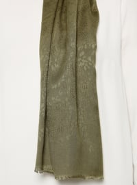 Khaki - Plain - Viscose - Shawl