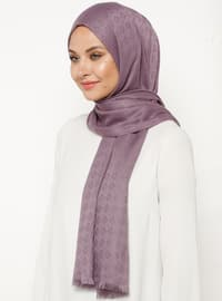 Lilac - Plain - Viscose - Shawl