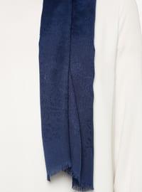 Navy Blue - Plain - Viscose - Shawl