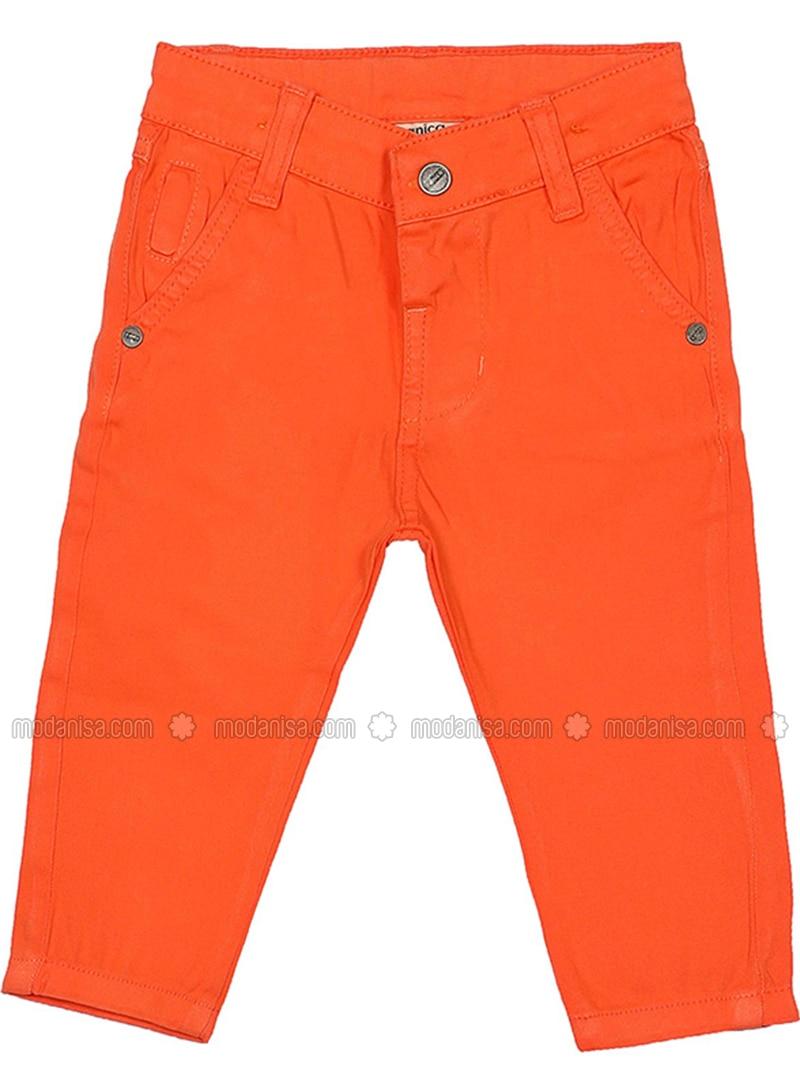 Cotton - Orange - Boys` Pants
