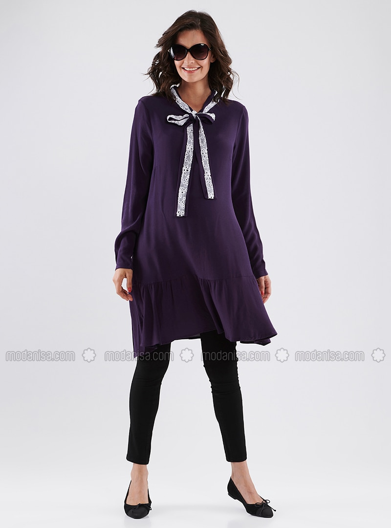 Purple - Cotton - Maternity Tunic