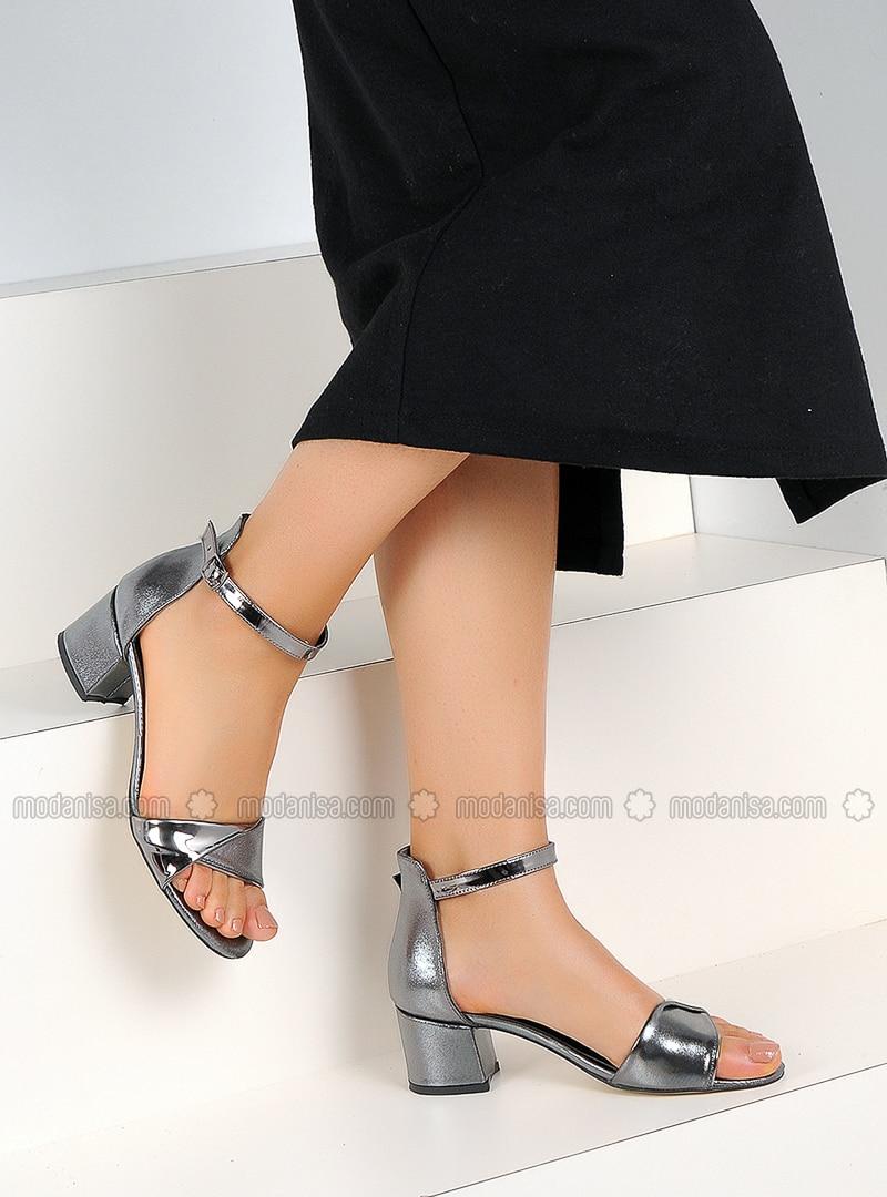 Silver - High Heel - Sandal - Heels