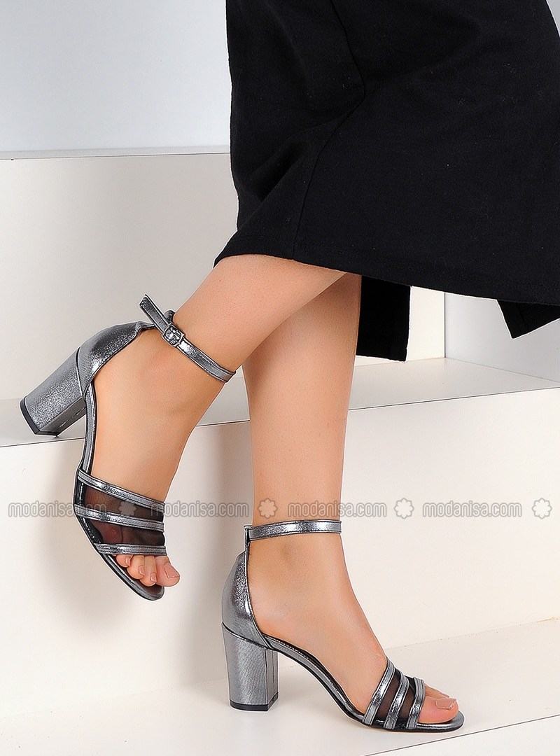 Silver - High Heel - Shoes