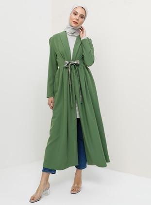 Green Almond - Unlined - Shawl Collar - Topcoat