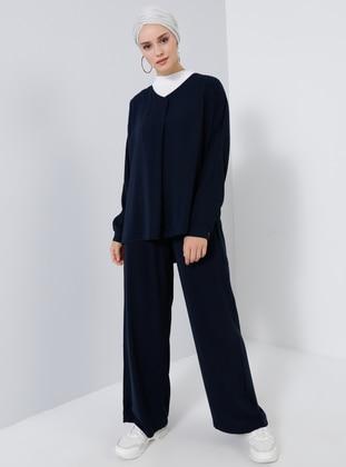 Navy Blue - Unlined - Suit