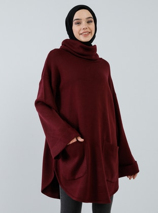 Cherry - Polo neck - Acrylic -  - Tunic
