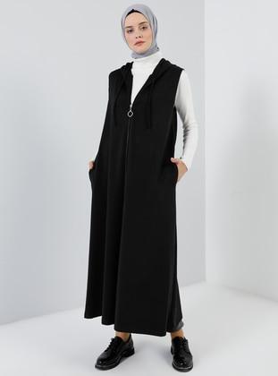 Black - Unlined -  - Vest