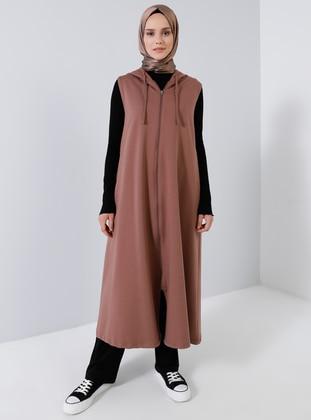 Brown - Unlined -  - Vest