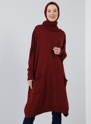 Cherry - Polo neck - Acrylic -  - Tunic