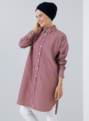 Cherry - Stripe - Point Collar -  - Tunic