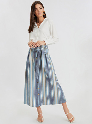 Stripe - Blue - Skirt
