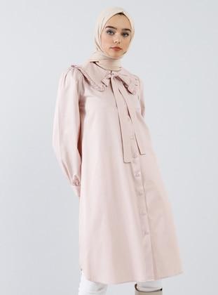 Pink - Powder - Point Collar -  - Tunic