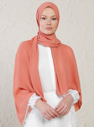 Onion Skin - Plain - Litho - Crepe - Shawl -  Şal