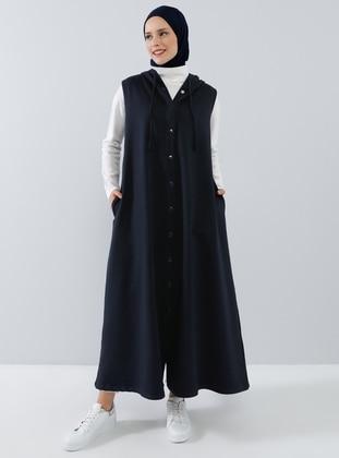Navy Blue - Unlined -  - Vest