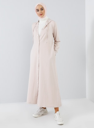 White - Unlined - Cotton - Topcoat