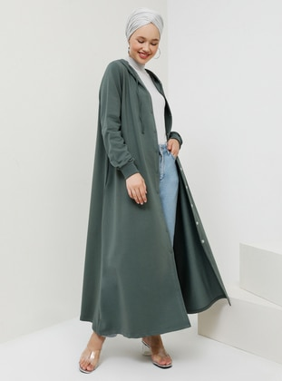 Green - Unlined - Cotton - Topcoat - Benin