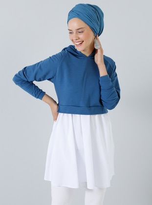 White - Ecru - Blue - Tunic