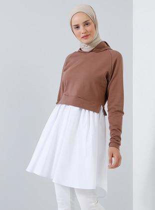 White - Ecru - Brown - Tunic