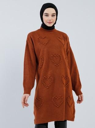 Cinnamon - Polo neck - Acrylic -  - Wool Blend - Tunic