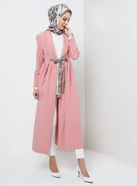 Pink - Unlined - Shawl Collar - Topcoat