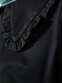 Black - Point Collar -  - Blouses