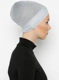 Gray - Plain - Bonnet - Bone