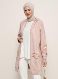 Powder - Floral -  - Plus Size Tunic