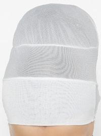 White - Ecru - Lace up - Bonnet